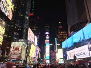 Der Times Square bei Nacht, Bildquelle: Eigene Aufnahme