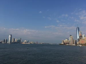 Blick von der kostenlosen Staten Island Ferry auf Manhattan, Bildquelle: Eigene Aufnahme